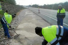 El Consell mejora los accesos a las fincas desde la carretera Llucmajor-Campos