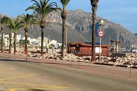 La peatonalización de la primera línea del Port de Pollença, una crisis abierta