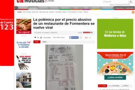 Precios abusivos en Formentera
