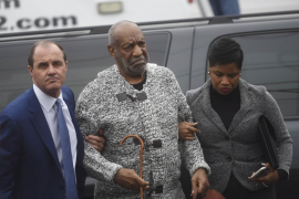 Actor and comedian Bill Cosby arrives with attorney for his arraignment on sexual assault charges at the Montgomery County Court