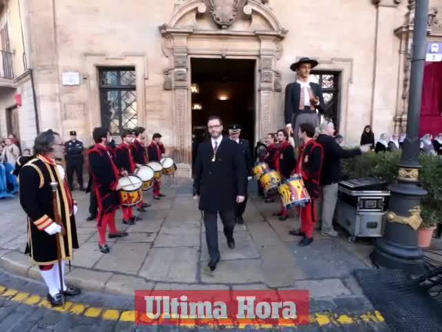 Palma celebra una Festa de l'Estendard sin protestas y con aplausos