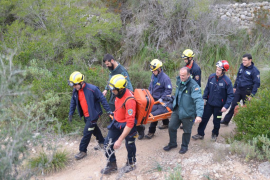 Rescate de una senderista accidentada en en el Puig de sa Farineta de Andratx
