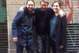 Iglesias analiza junto a Colau y Domènech los escenarios tras el 20D
