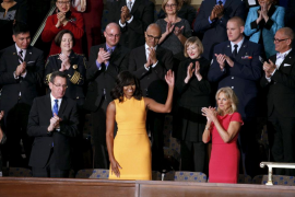 Agotado el vestido que lució Michelle Obama durante el discurso de su marido