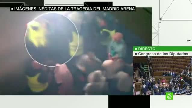 Un vídeo inédito muestra el horror y la angustia que se vivió en el Madrid Arena