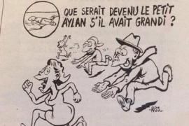 'Charlie Hebdo' se vuelve a burlar de la muerte del pequeño Aylan