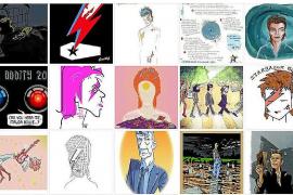 Los dibujos en homenaje a Bowie se pueden ver desde este sábado en internet