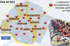 El servicio de bicicleta pública cubrirá inicialmente 15 barrios de Palma