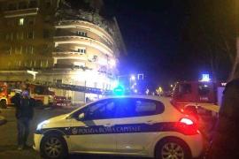 Se derrumban tres pisos de un edificio en el centro de Roma sin causar víctimas