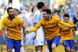 Messi evita un tropezón del Barça