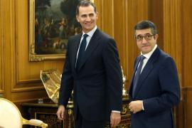 López comunica a Felipe VI la lista de portavoces para su segunda ronda de consultas