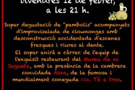 Cena a base de 'pa amb oli' y clown en Palma