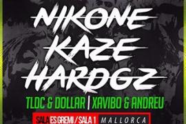 La música de Nikone, Hard GZ y Kaze sonará en un festival en Es Gremi