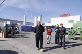 Protesta de los trabajadores de Bimbo ante el previsible cierre de la planta
