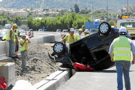La vía de cintura registra otro accidente en las obras del tercer carril, y ya van once