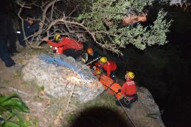 Laborioso rescate de un escalador tras sufrir una caída en el Puig de Garrafa