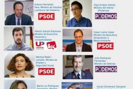 Podemos Zaragoza propone los ministros del pacto entre Pedro Sánchez y Pablo Iglesias