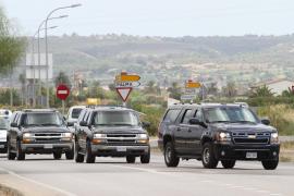 El convoy de Michelle Obama ya está en Palma
