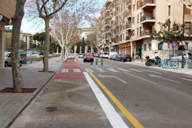 Un nuevo carril bici en la calle Jesús unirá el Parc de Sa Riera con el centro de la ciudad