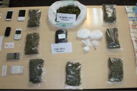 Detenidas tres personas en Alcúdia tras incautar un kilo de cocaína