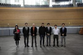 Una delegación del Consejo Superior de Deportes de Japón visita el Palma Arena