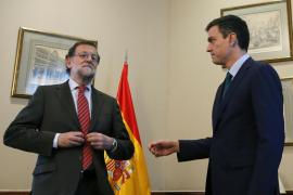 La reunión entre Rajoy y Sánchez termina en apenas media hora