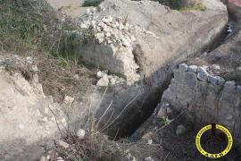 Denuncian la destrucción de un pontón del siglo XIX en Felanitx por las obras del gasoducto