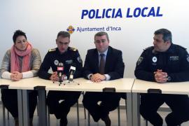 Los delitos en Inca «han bajado un 30 % en 2015»