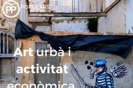 Polémica en las redes por el uso de la imagen de un grafiti publicada por el PP de Palma