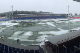 Suspendido el Huesca-Mallorca por el mal estado del terreno de juego