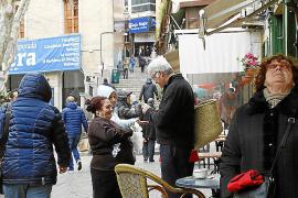 Las claveleras regresan al centro de Palma para desvalijar a los turistas