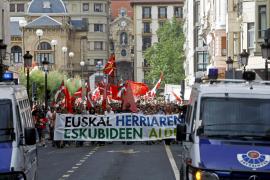 La izquierda abertzale clama en las calles de San Sebastián por la independencia