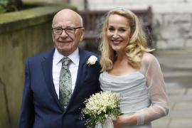 Rupert Murdoch y Jerry Hall se casan en la capilla de la prensa