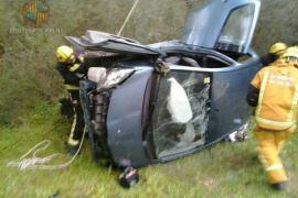 Una persona herida en un accidente en la carretera de s'Esgleieta a Esporles
