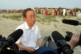 Ban Ki-moon, en su visita a Pakistán: «Nunca había visto nada como esto»