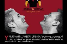 'Dos pájaros a tiro', homenaje a Sabina y Serrat en Petra
