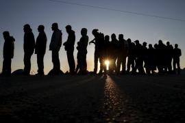 Llegada de refugiados a Macedonia