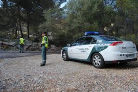 La Guardia Civil  'caza' a un motorista a 141 kilómetros por hora en el Puig Major