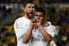 El Madrid suda para sacar los tres puntos ante Las Palmas
