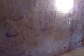 Descubiertos uno grafitis náuticos de los siglos XVI al XVIII en el Castell de Capdepera