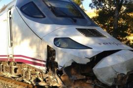 Descarrila un tren Euromed después de impactar con una roca