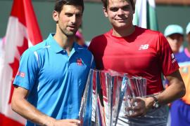 Djokovic arrolla a Raonic en Indian Wells e iguala a Nadal con 27 títulos Master 1000