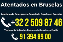 El Gobierno habilita dos teléfonos para solicitar información de españoles en Bruselas