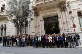 Silencio en el Parlament