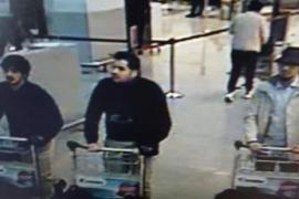 Los presuntos autores del atentado en el aeropuerto, captados por una cámara
