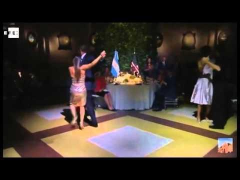 Obama baila un tango y prueba el mate en Argentina
