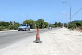 Poca actividad en las obras de mejora de la carretera Son Servera-Capdepera
