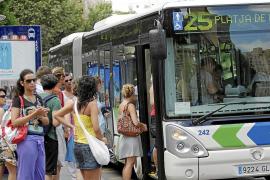 La saturación en los buses del corredor de Llevant creció en 2015 casi un 30%