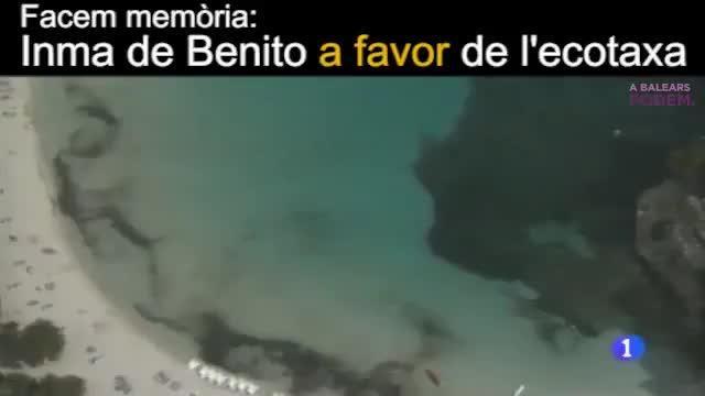 Inma de Benito defendía la ecotasa en su día