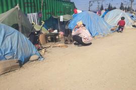 Refugiados sirios en Idomeni